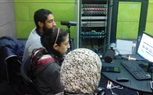 Mass communication students training at MTI radio