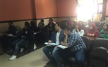 The students of the Faculty of Mass Communications happily attending their morning lectures