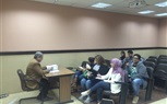 Students of the Faculty of Mass Communication continued their lectures and sections today