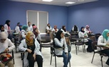 Students of the Faculty of Dentistry during the attendance of an interesting practical day