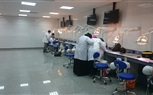 Students of the Faculty of Dentistry during attending a practical session in the lab